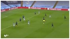 Gol de Ferran Torres (1-0) en el Manchester City 2-0 Marsella