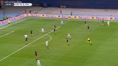 La gran ocasión de Morata en el área pequeña para marcar en Zagreb