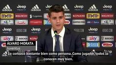 Morata desvela la primera frase que le dijo Cristiano tras dejar el Atlético