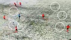 Cuando nieva y juegas de blanco: ¿cuántos jugadores del Sivasspor ves en la imagen?