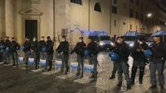 Disturbios de grupos fascistas en Roma contra el toque de queda