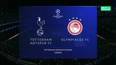 Champions League (Grupo B): Resumen y goles del Tottenham 4-2 Olympiacos