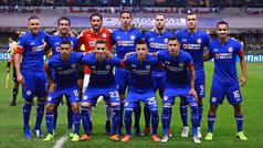 Alineación del Cruz Azul contra América en la final de ida del Apertura 2018