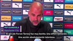"Guardiola, sobre Ferran Torres: ""Cuando empezó a sonreír de nuevo, volvió a jugar bien"""