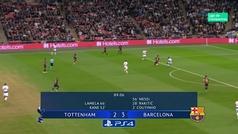 Gol de Messi (2-4) en el Tottenham 2-4 Barcelona