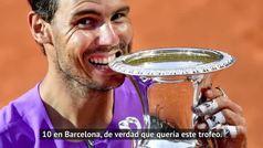 """Rafa Nadal: """"Es increíble tener 10 veces el trofeo de Roma"""""""