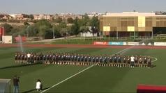 Emotivo minuto de silencio de la selección española en recuerdo de Reyes