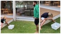 Neymar engaña a su hijo y le estampa un huevo en la cabeza