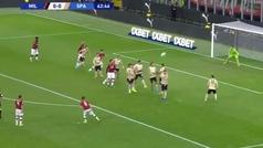 El golazo de Suso que dio el triunfo al Milan ante el SPAL