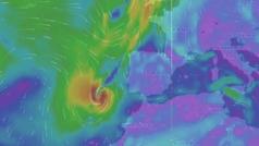 El huracán Leslie entra en España y pone en alerta a 39 provincias