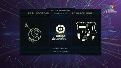 MX: LaLiga (J17): Resumen y goles del Real Sociedad 2-2 Barcelona