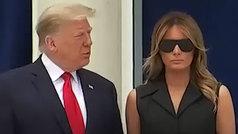 La última de Trump: Fuerza a su mujer para que sonría en público