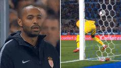 La carita de Henry en su primer gol encajado como entrenador: ¡vaya cantadón de Seydou Sy!