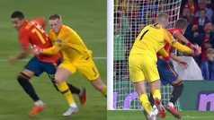 Así fue el posible penalti de Pickford a Rodrigo