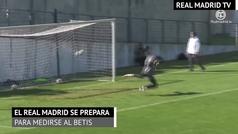 Mariano y Militao, únicas ausencias en el entrenamiento del Madrid