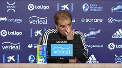 """Arrasate habla de """"pena"""" y """"orgullo"""" tras el empate ante el Granada al límite"""