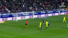 Gol del Cucho (p.) (1-0) en el Huesca 2-2 Villarreal