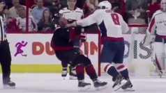 Violenta pelea en la NHL: Ovechkin deja KO a su rival con tres puñetazos
