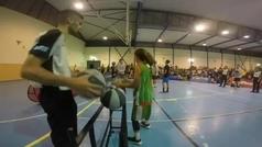La increíble exhibición de tiro de una jugadora de minibasket