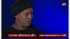 Ronaldinho tiene que elegir entre vivir sin fútbol y sin el Carnaval de Río... ¿qué crees que elige?