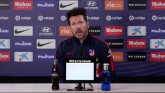 """Simeone: """"Intentaremos llevar el partido donde creemos que le podemos hacer daño"""""""