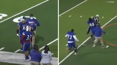 Le expulsan, vuelve al campo a placar al árbitro... ¡y la policía se lo lleva arrestado!