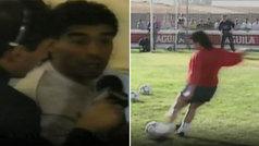 El Sevilla desclasifica imágenes poco conocidas de Maradona para rendirle homenaje