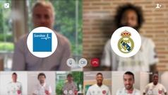 Los jugadores del Real Madrid de fútbol y baloncesto ya tienen sus tarjetas de Sanitas