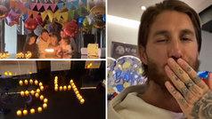 """Sergio Ramos sopla las velas en familia y agradece todo el cariño: """"¡Lo celebraremos!"""""""