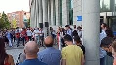 Jesús Tortosa habla tras la concentración de apoyo en Alcobendas