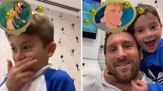 El juego de Messi con sus hijos para saber qué personaje es de Disney