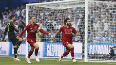 Final Champions 2019: gol de Salah (p.) (0-1) en el Tottenham 0-2 Liverpool