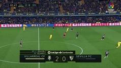 Gol de Pedraza (3-0) en el Villarreal 3-0 Sevilla