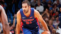 Lo mejor de la jornada con Calderón debutando con los Pistons
