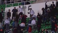Policía y aficionados se pelean a sillazos en una batalla campal en Argelia