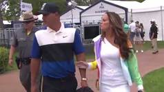 La gran 'cobra' del deporte: Brooks Koepka le negó un beso a la actriz Jena Sims