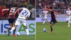 La secuencia surrealista que arrasa en la Serie A: Mattia Destro marca un golazo con una botella en