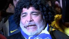'Maradona', gran protagonista en el recibimiento a Boca Juniors en Madrid