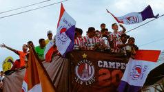 Atlético de San Luis festeja con un desfile su ascenso a Primera División