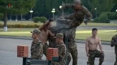Supersoldados norcoreanos se exhiben ante Kim Jong-un