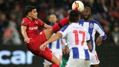 Europa League (1/16, ida): Resumen y goles del Leverkusen 2-1 Oporto