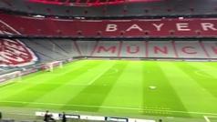 Las gradas del Allianz Arena vacías