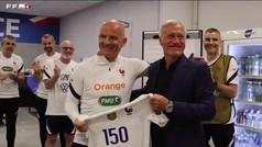 El homenaje de la selección francesa a Guy Stéphan