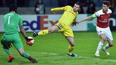 Europa League (1/16, ida): Resumen y gol del BATE 1-0 Arsenal