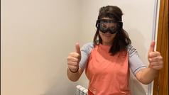 La piloto Laia Sanz anima a los aficionados al motociclismo a donar gafas para los sanitarios