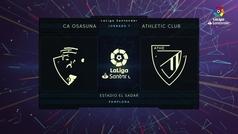 MX: LaLiga (J7): Resumen y gol del Osasuna 1-0 Athletic