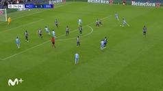 Gol de Cancelo (5-3) en el Manchester City 6-3 Leipzig