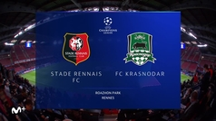 Champions League (J1): Resumen y goles del Rennes 1-1 Krasnodar