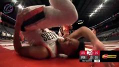 Así fue la escalofriante lesión de CJ McCollum ante los Hawks
