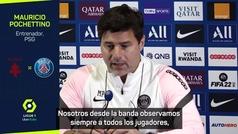 """Pochettino zanja el tema del cambio de Messi: """"Le vimos hacer gestos por la rodilla"""""""